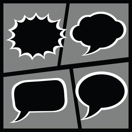 dialog baloon: Set of comic dialogue box