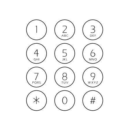 抽象的な平らなユーザー インターフェイスのキーパッド