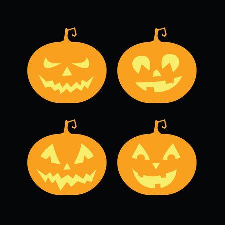 craving: set of pumpkins for halloween Illustration