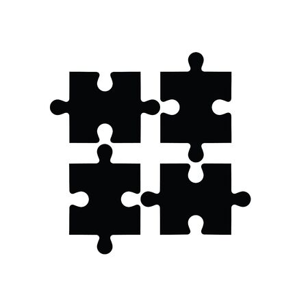 Template of abstract puzzle. Vettoriali