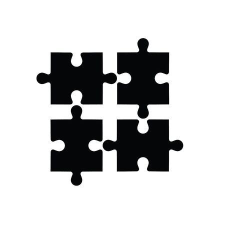 piezas de rompecabezas: Plantilla de rompecabezas abstracto. Vectores