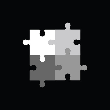 business symbols metaphors: Template of abstract puzzle. Illustration