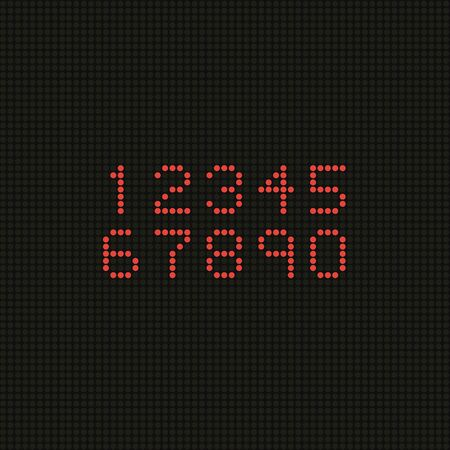 screen type: Set of numbers on LED screen