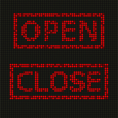 screen type: Red letters on LED screen background