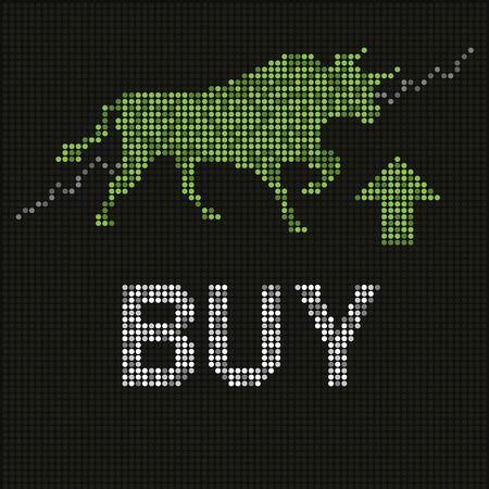 toro: Toro verde en la pantalla conducido