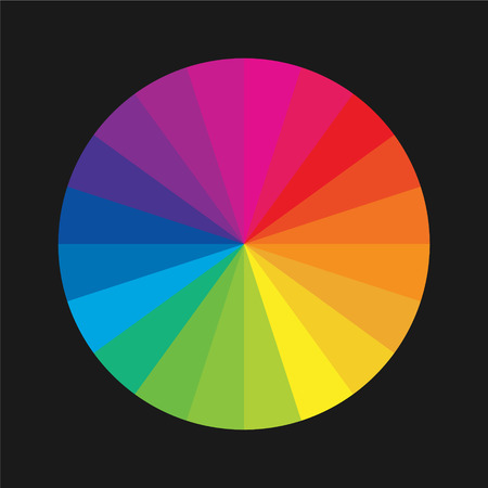 color charts: Color wheel guide Illustration
