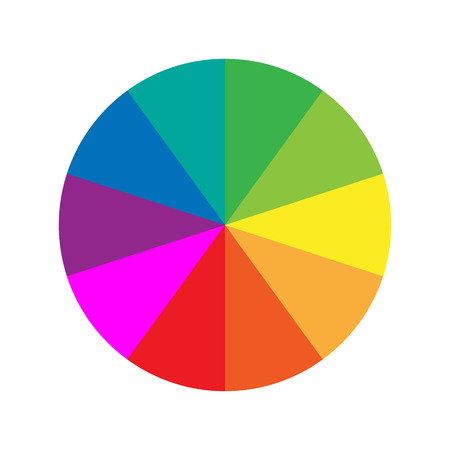 colour chart: Color wheel guide Illustration