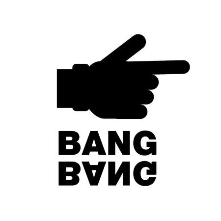 Concept with hand pistol gesture