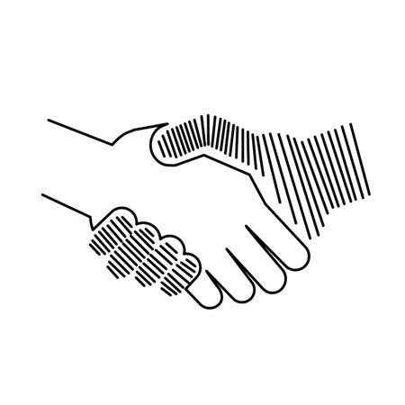 combining: Abstract icon of handshake Illustration