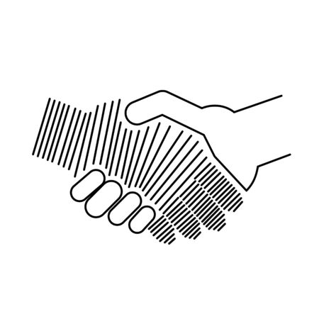 international business agreement: Abstract icon of handshake Illustration