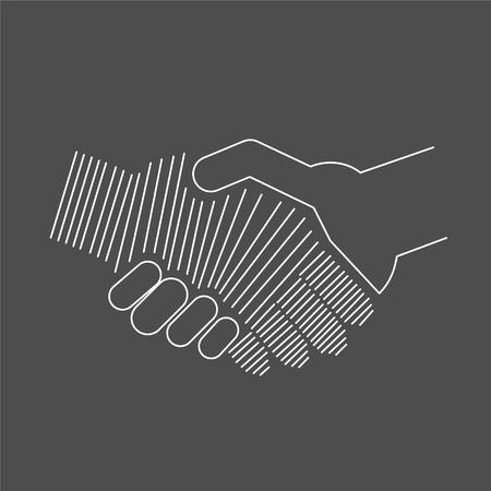logo handshake: Abstract icon of handshake Illustration