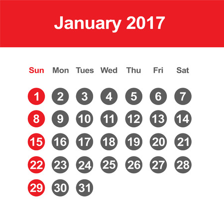 template of calendar for january 2017 royalty free cliparts vectors