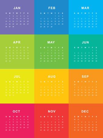 Template of calendar for 2018 Reklamní fotografie - 75305162