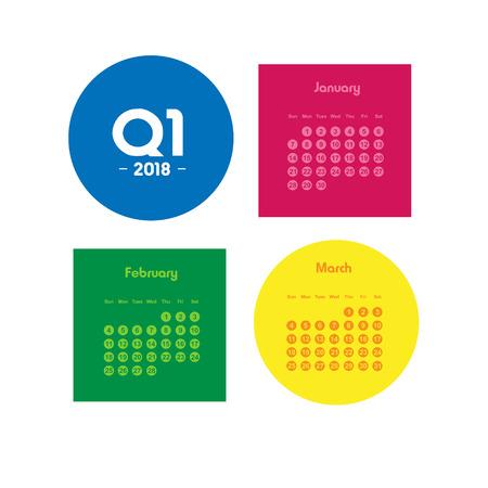 First quarter of calendar 2018 Illusztráció