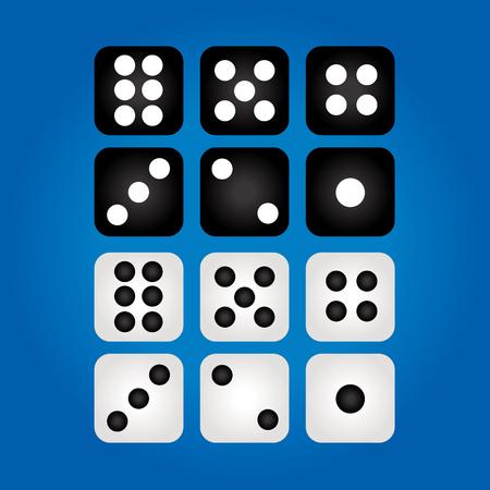 Set of casino dices.