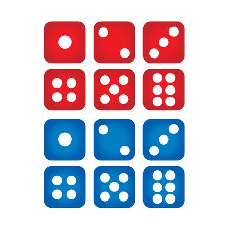 Set of casino dices