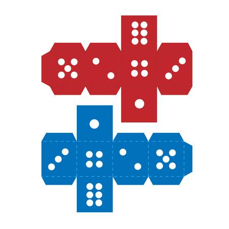 Paper craft dice template