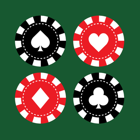Set of casino chips.