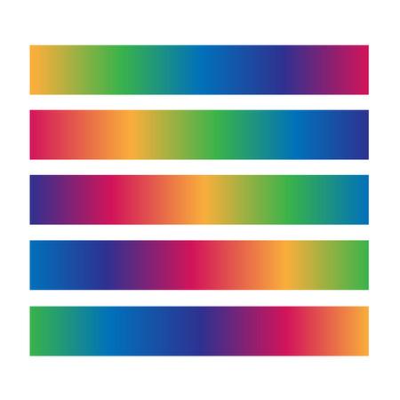 Useful horizontal colourful loading bar Vettoriali