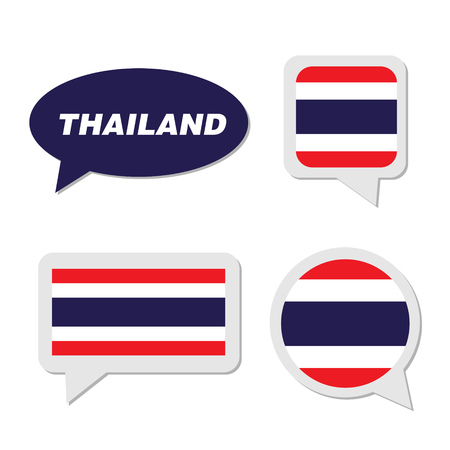 Set of Thailand flag in dialogue bubble