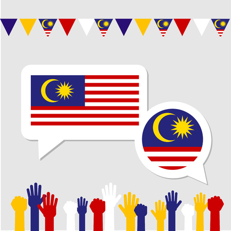 Concept of Malaysia event with supporter.