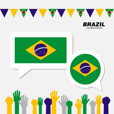 National celebration with Brazil flag decoration