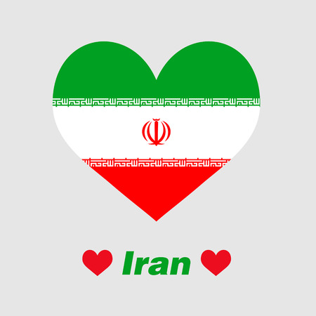 The heart of Iran Illustration