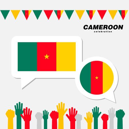 National celebration with Cameroon flag decoration