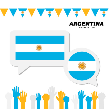 National celebration with Argentina flag decoration