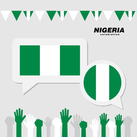 National celebration with Nigeria flag decoration