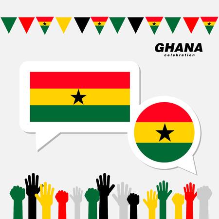 National celebration with Ghana flag decoration