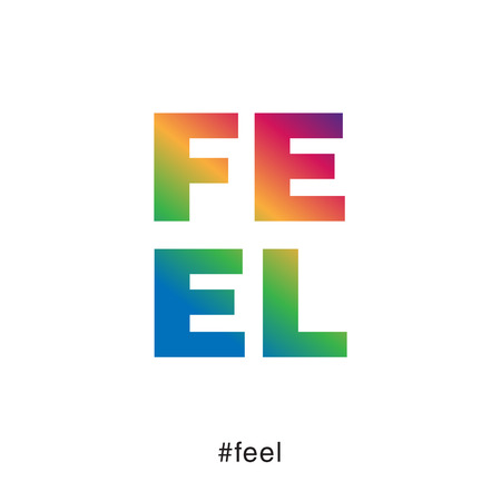 Modern and colorful feel typography Illustration