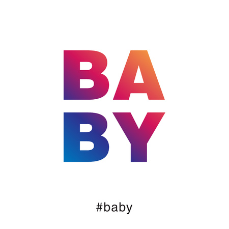 Modern and colorful baby typography