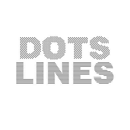 Dots and lines concept