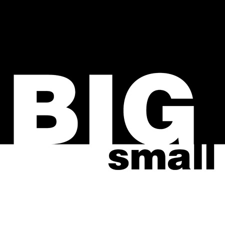 Concept of big and small Stok Fotoğraf - 100951810