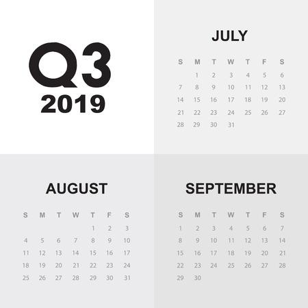 Third quarter of calendar 2019 Ilustração