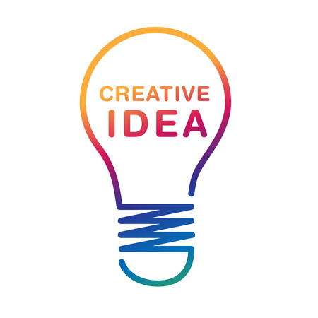 Creative idea concept with bulb