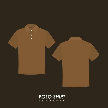 Brown polo shirt on isolated background