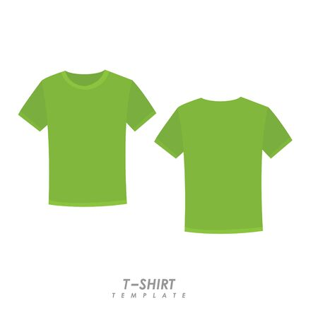 Lime t-shirt on isolated background