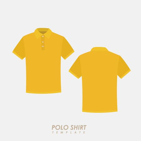 Yellow polo shirt on isolated background