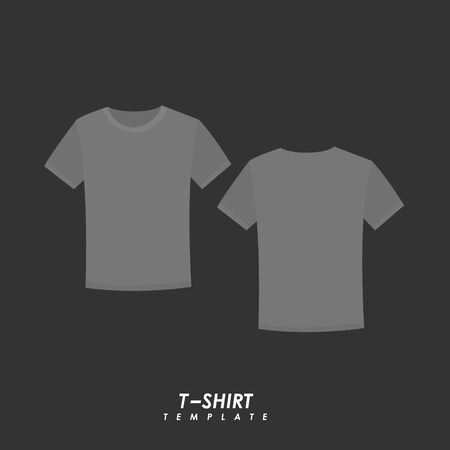 Gray t-shirt on isolated background Иллюстрация