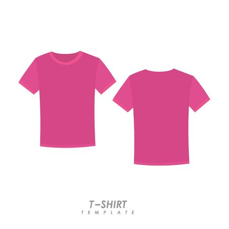 Pink t-shirt on isolated background