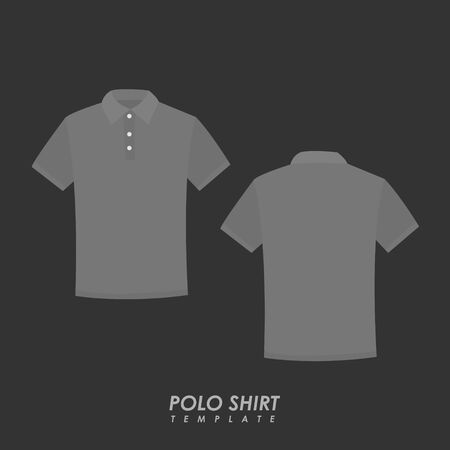 Gray polo shirt on isolated background