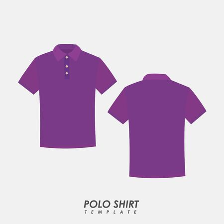 Purple polo shirt on isolated background