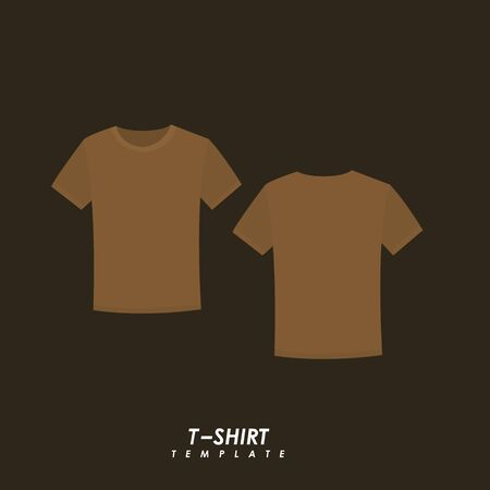 Brown t-shirt on isolated background