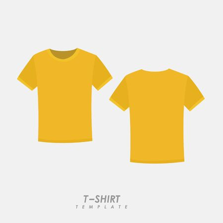 Yellow t-shirt on isolated background Иллюстрация
