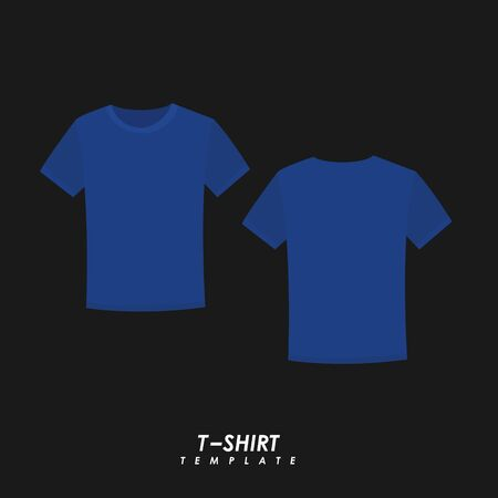 Navy blue t-shirt on isolated background