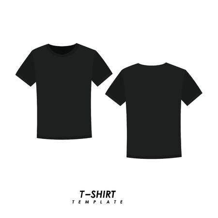 Black t-shirt on isolated background