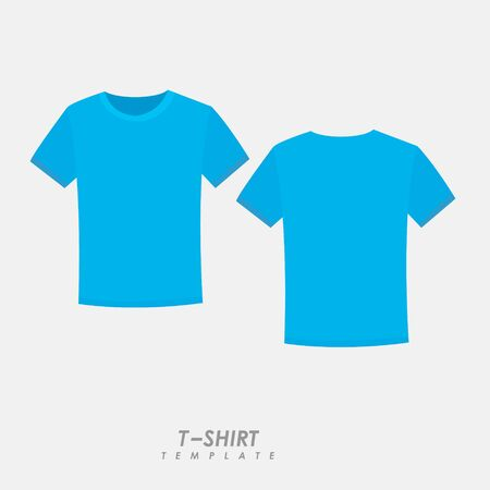 Sky blue t-shirt on isolated background Иллюстрация