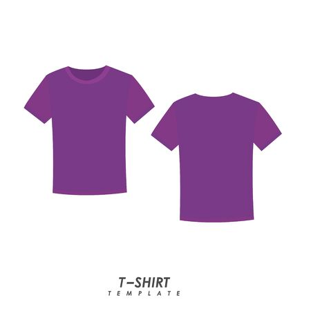 Purple t-shirt on isolated background